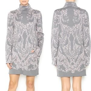 Free People Modern love Long Sleeve Dress grey s